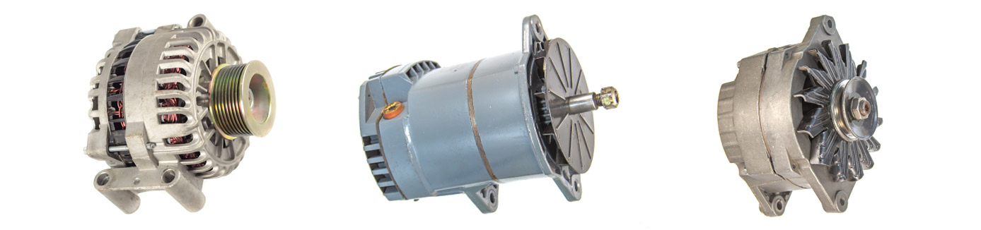 A few of the alternators we sell, install, and repair in industrial and commercial applications